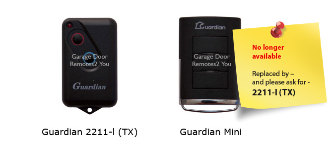 Guardian Boss Garage Door Remote Controls